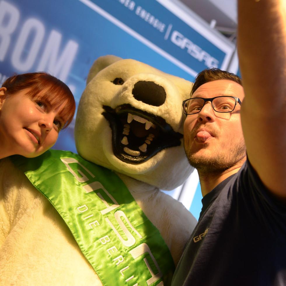 GASAG Sechstagerennen mit dem Eisbär