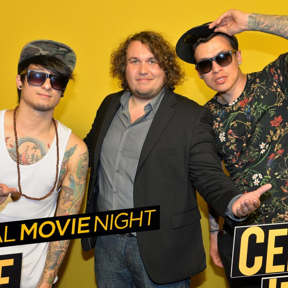 : Julien Bam Robert Hofmann und Cheng Loew bei der social movie night