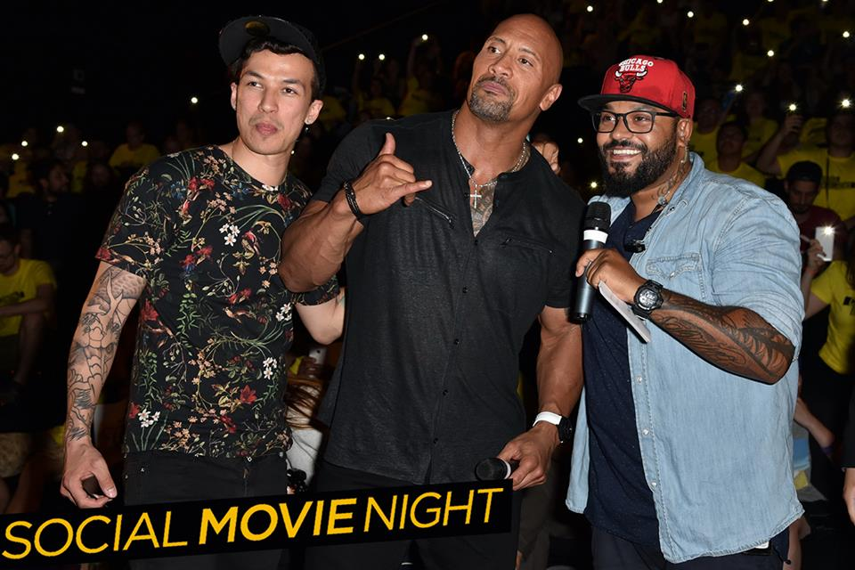 Rashid The Rock in Berlin bei der Social Movie Night zu Central Intelligence