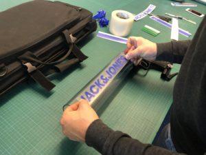 Branding und Aufkleberdruck einer T-Shirt Kanone für Jack & Jones MTV Braunschweig