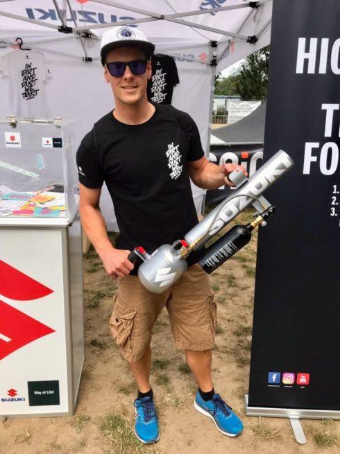 t-shirt kanonen promoter bmx masters Köln für suzuki