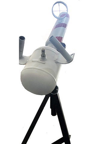 candy-cane t-shirt booster launcher