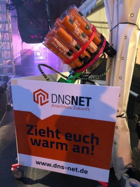 t-shirt launcher Gatling gun dns net branding promotion stadtfest Teltow 2019